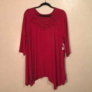 Red Torrid Super Soft Knits Plus Size Blouse